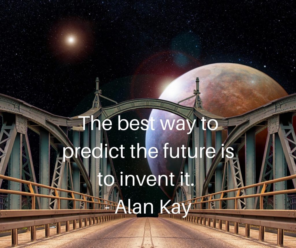 Technology quote about predicting the future from Alan Kay