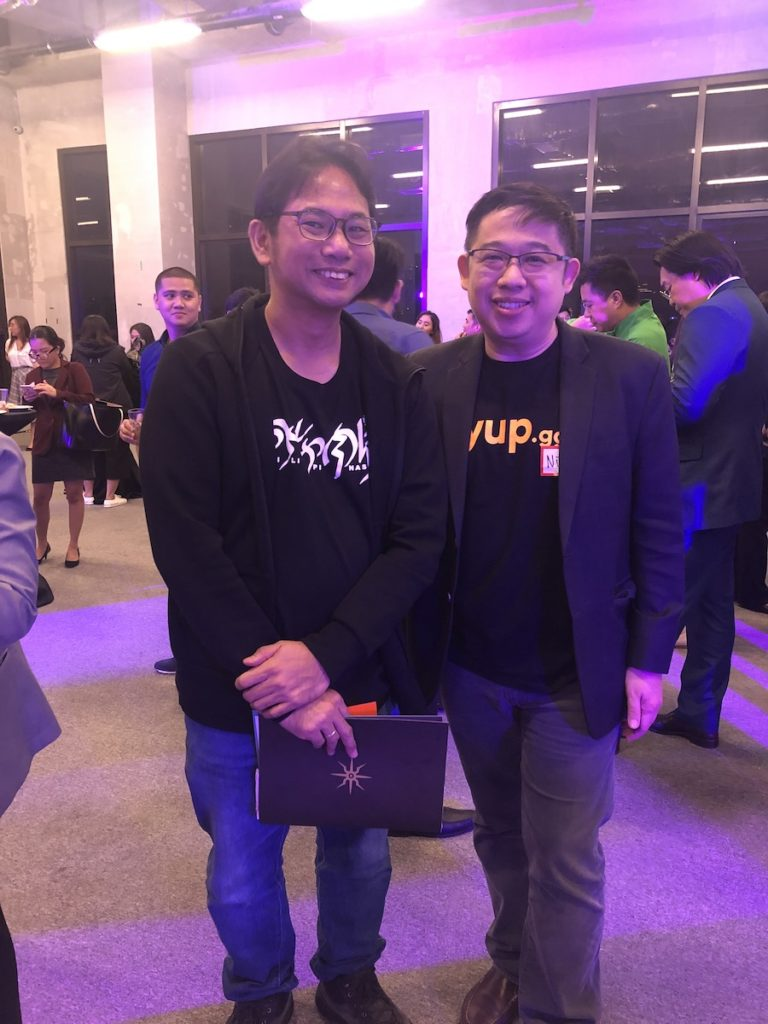 The author with yup.gg CFO and Co-Founder Nic Khoo