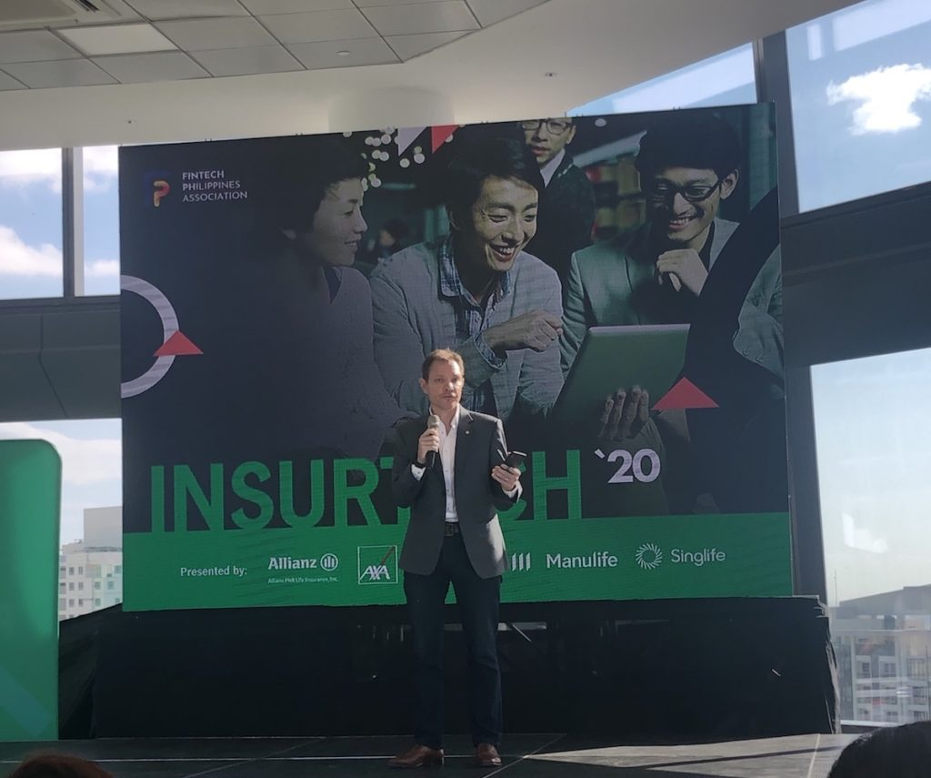 Manulife Philippines President and CEO Richard Bates at Insurtech '20