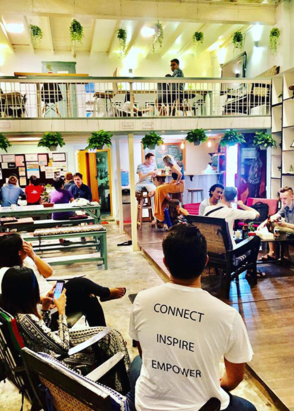 The Draper Startup House hostel in Yangon is the first hostel for startups, entrepreneurs, and digital nomads in Myanmar.