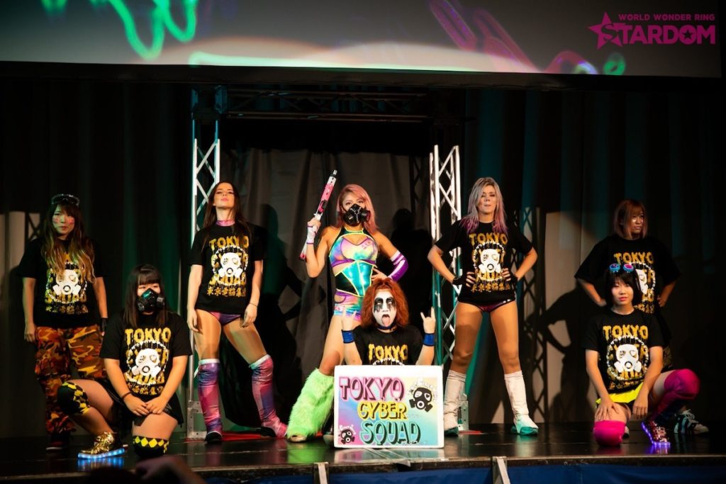 Hana Kimura was the leader of her own faction at Stardom, Tokyo Cyber Squad. Image credit: Hana Kimura's Twitter account