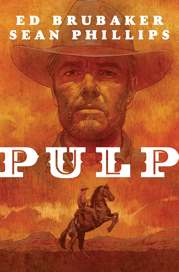 """Pulp"" is a graphic novel by Brubaker and Phillips. Image credit: Image Comics"