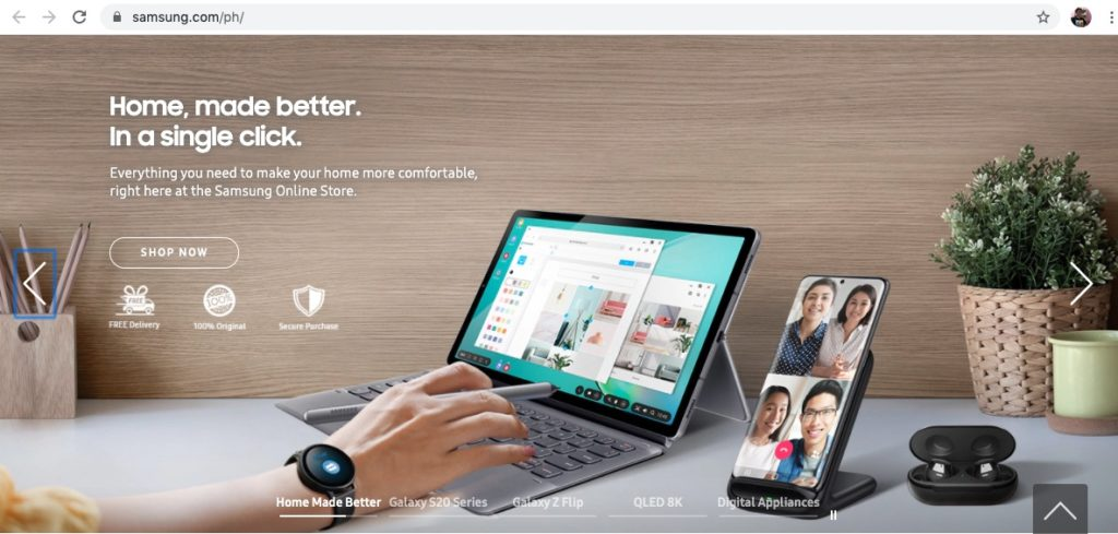 The Samsung Online Store is now live in the Philippines.