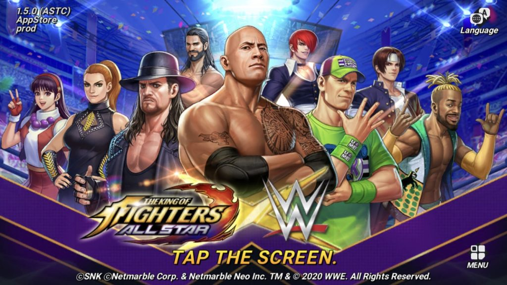 WWE Superstars are invading The King of Fighters ALLSTAR.