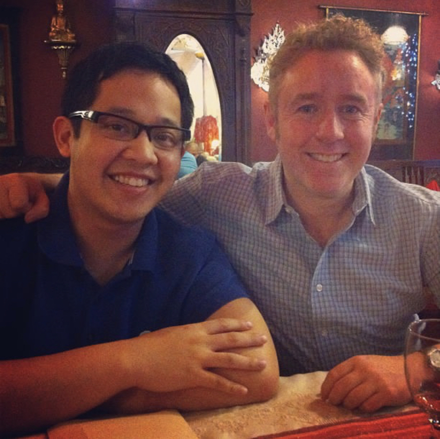 With Mark Millar at National Book Store's 'The Milla in Manila'. Image credit: Jiggy Cruz