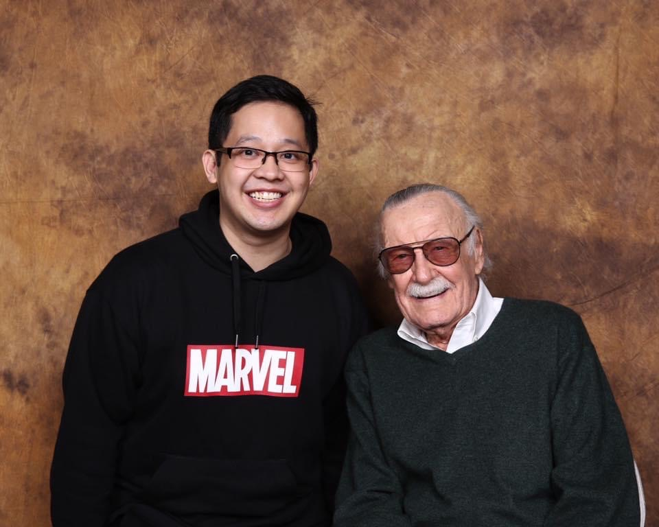 Jiggy Cruz is a comic book fan and he loves Marvel Comics. Here he is with the late Stan Lee, the legendary publisher of Marvel Comics and co-creator of Spider-Man and other iconic Marvel superheroes. Image credit: Jiggy Cruz