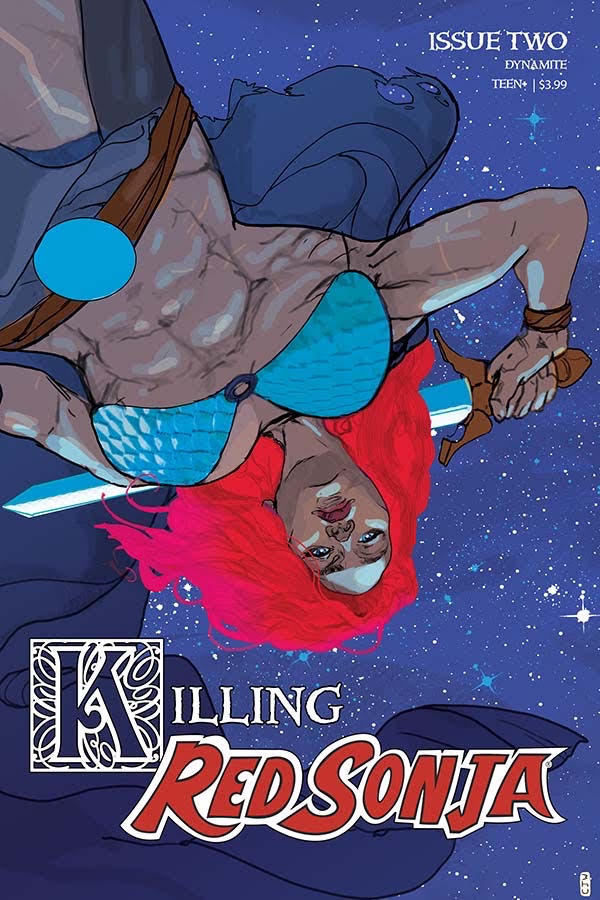 Killing Red Sonja #2 has wowed me with this lighthearted story about a boy emperor's quest to kill Sonja the Red. Image credit: Dynamite Entertainment