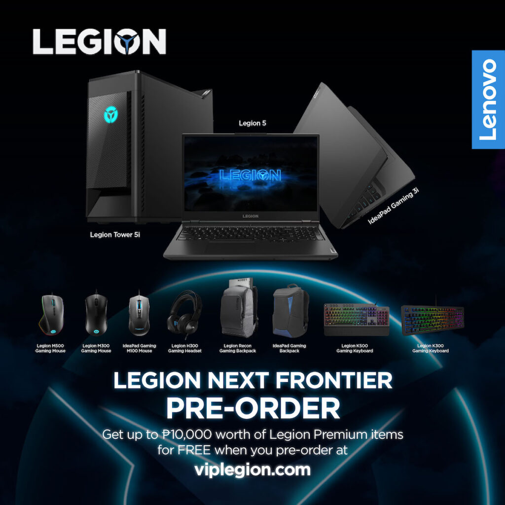Lenovo Philippines has launched a Legion promo where customers can pre-order the Legion devices bundled with other Legion accessories.
