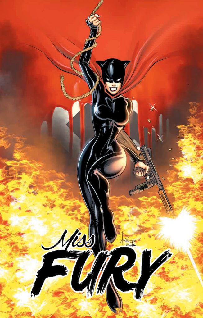 In 1941, during the Golden Age of Comics, Miss Fury became the first female action hero created by a woman. Image credit: Dynamite Entertainment