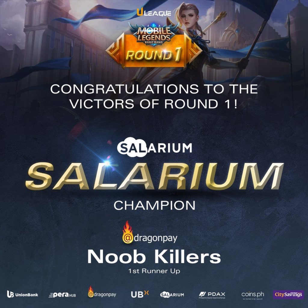 Mobile Legends team of Salarium emerged victorious in the ULeague: Charity Clash Tournament.
