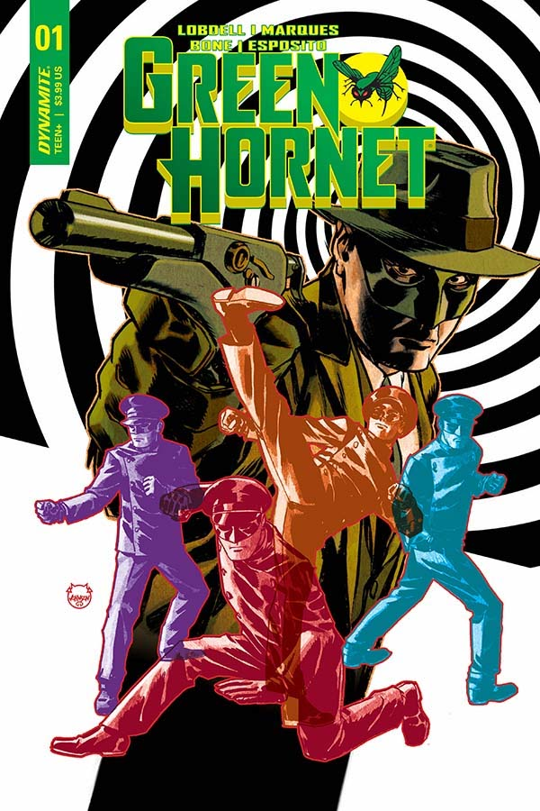 Green Hornet #1 Cover B by Dave Johnson. Image credit: Dynamite Entertainment