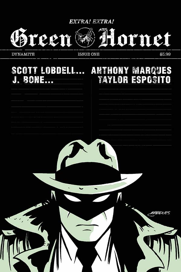 Green Hornet #1 Cover E by Anthony Marques. Image credit: Dynamite Entertainment