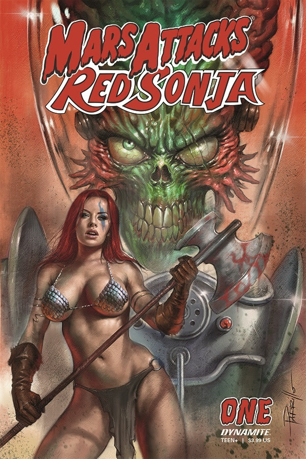 Dynamite Entertainment presents Mars Attacks Red Sonja! and the world will never be the same. Image credit: Dynamite Entertainment