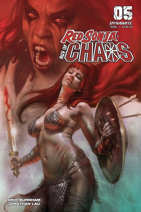 Red Sonja: Age of Chaos #5 Cover A by Lucio Parrillo. Image credit: Dynamite Entertainment