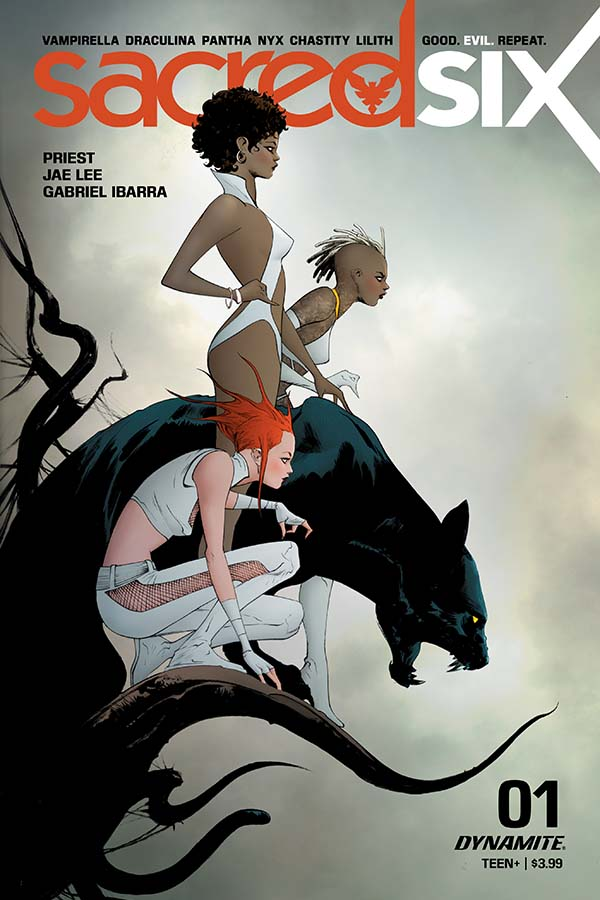 Sacred Six #1 Cover A by Jae Lee. Image credit: Dynamite Entertainment