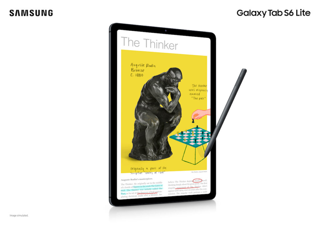 Embrace new ways of learning with the Samsung Galaxy Tab S6 Lite.