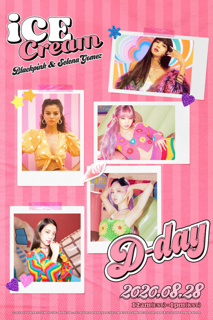 "Today is ""Ice Cream"" D-Day, as BLACKPINK and Selena Gomez  served up the ""Ice Cream"" single and music video (MV) at 1 PM Korean Standard Time (12 noon Philippine Standard Time)."