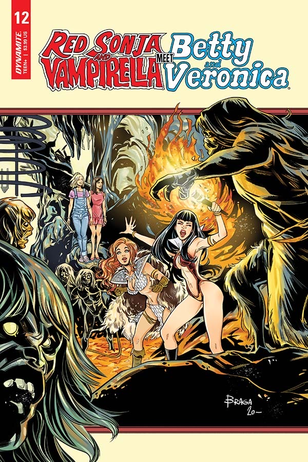 Red Sonja & Vampirella Meet Betty & Veronica #12 Cover C by Laura Braga. Image credit: Dynamite Entertainment