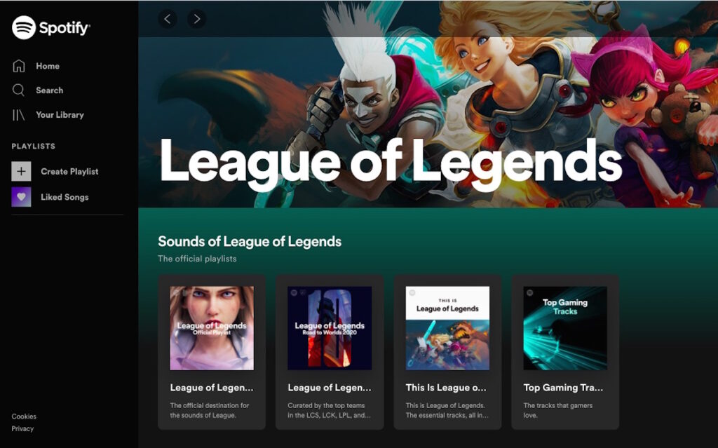 Spotify, the world's most popular global audio streaming subscription service, is now the official audio streaming partner for LoL Esports global events.
