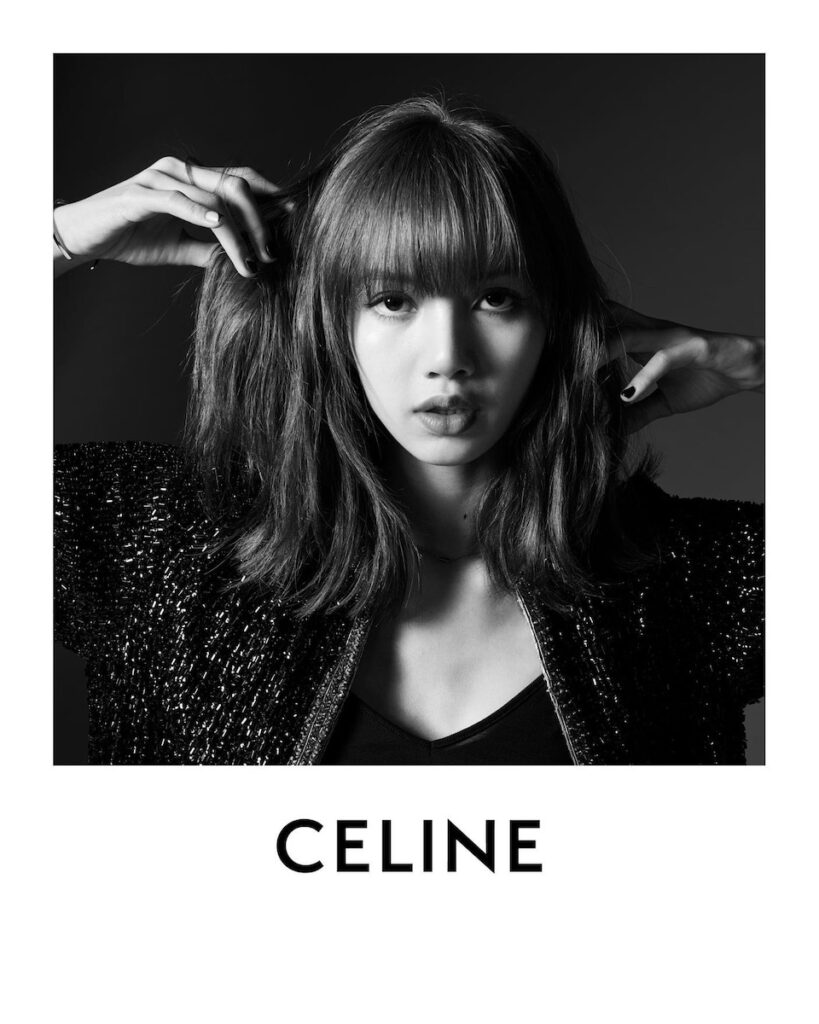 Thai rapper, singer and dancer Lalisa Manoban, better known as Lisa of BLACKPINK, is now the global brand ambassador of French fashion house CELINE. Image credit: Hedi Slimane