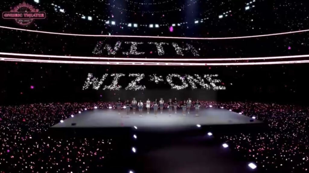 """Oneiric Theater', the first online concert of 12-member South Korean-Japanese girl group IZ*ONE, truly delivered on the promise of a unique virtual experience powered by AR (augmented reality) and XR (extended reality)."