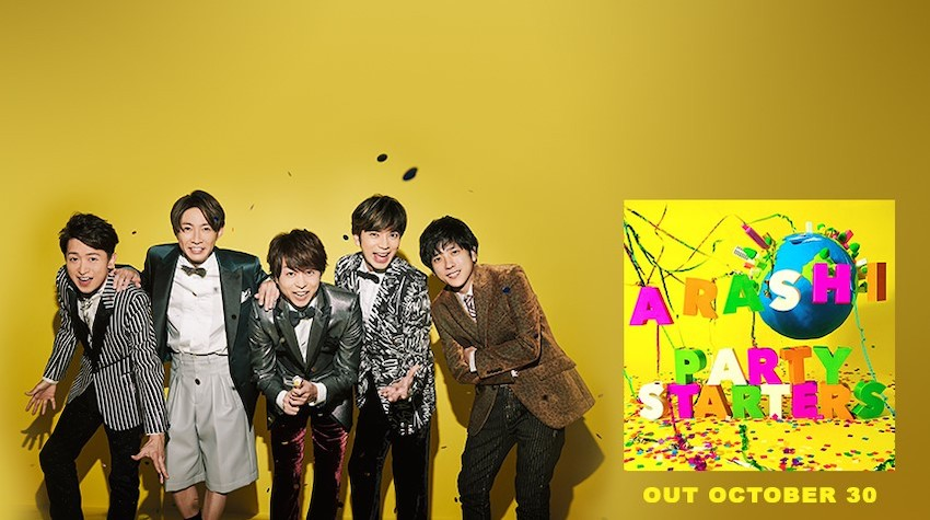 """Get ready to party, ARASHIANS! """"Party Starters,"""" the latest single of the popular five-member Japanese boy band ARASHI, is finally here. Image credit: Johnny & Associates"""