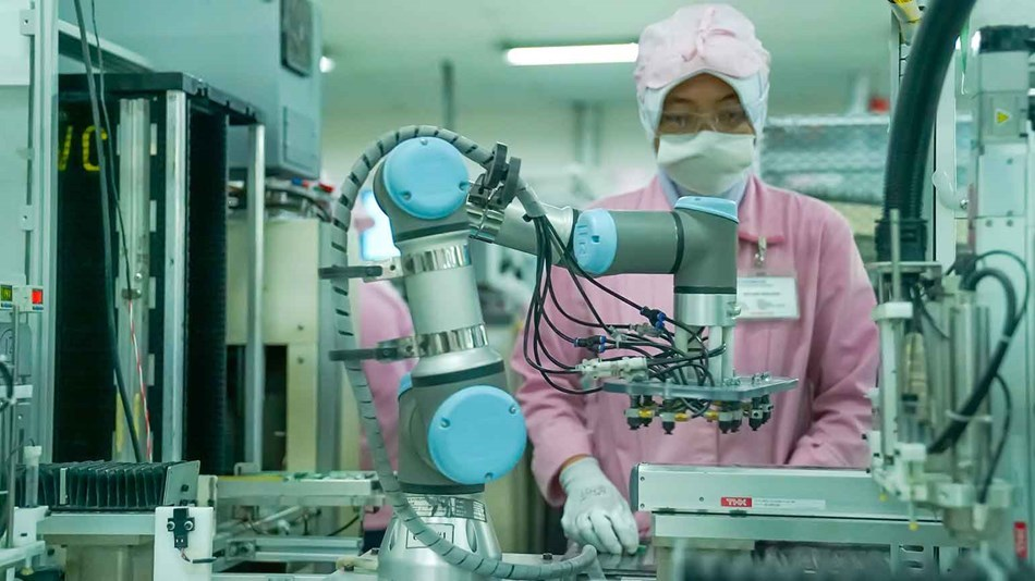 Different companies are deploying cobots in Asia Pacific, including PT JVC Electronics Indonesia.