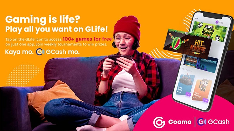 The GCash partnership with Goama Games is part of its initiative to become a lifestyle super app through its new GLife feature.