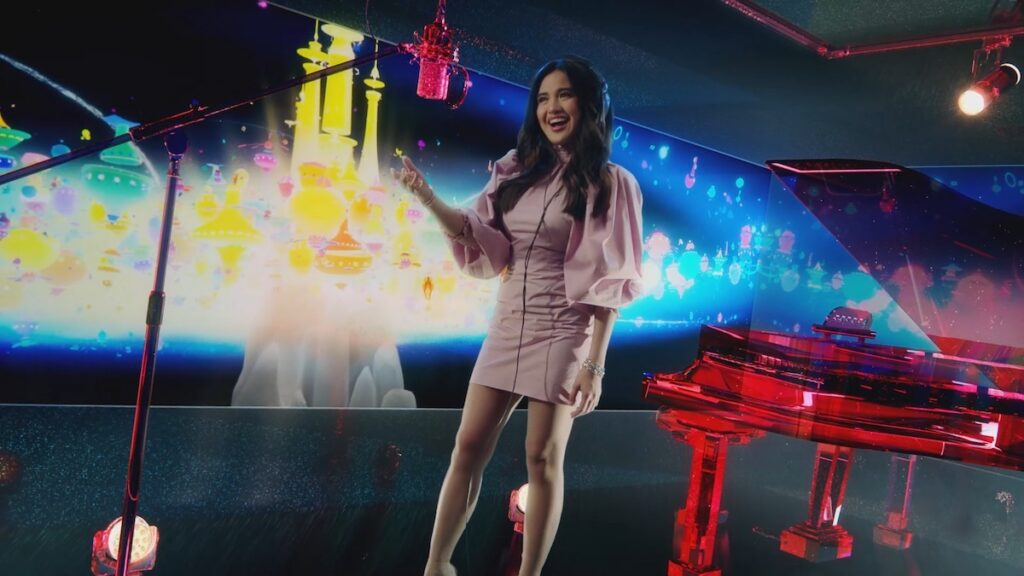 """Filipina singer Julie Anne San Jose has done a cover of """"Rocket to the Moon,"""" the lead single of the Netflix Film """"Over The Moon"""". Image credit: Netflix"""
