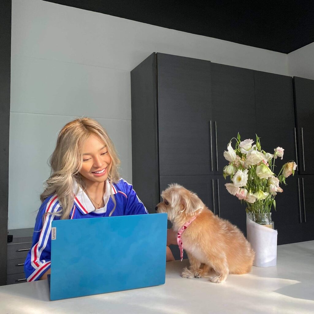 Lenovo IdeaPad ambassador Christine Samson has more than a million followers on TikTok.