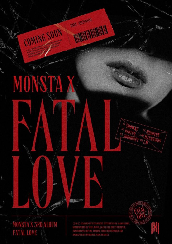 """K-pop boy group MONSTA X has announced that it is releasing its third full album, called """"Fatal Love"""", on Nov. 2. Image credit: Starship Entertainment"""