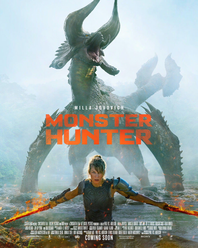 "Resident badass Milla Jovovich is ready to hunt monsters in the ""Monster Hunter"" official trailer."