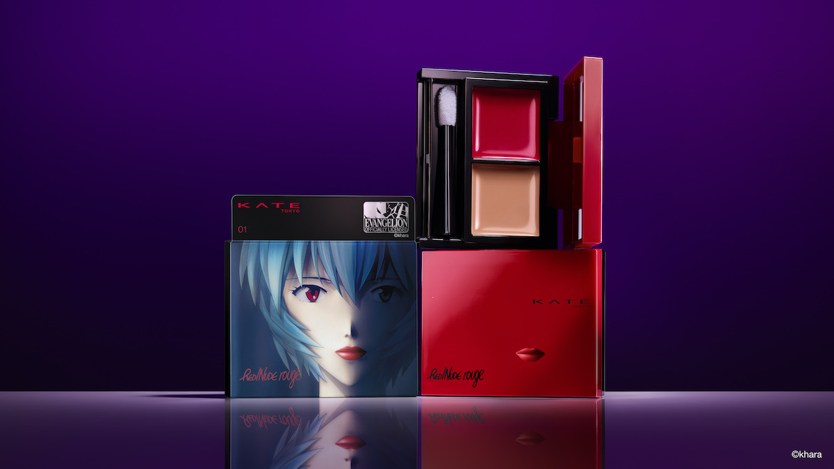 Ayanami Rei putting on first lipstick looks enticing
