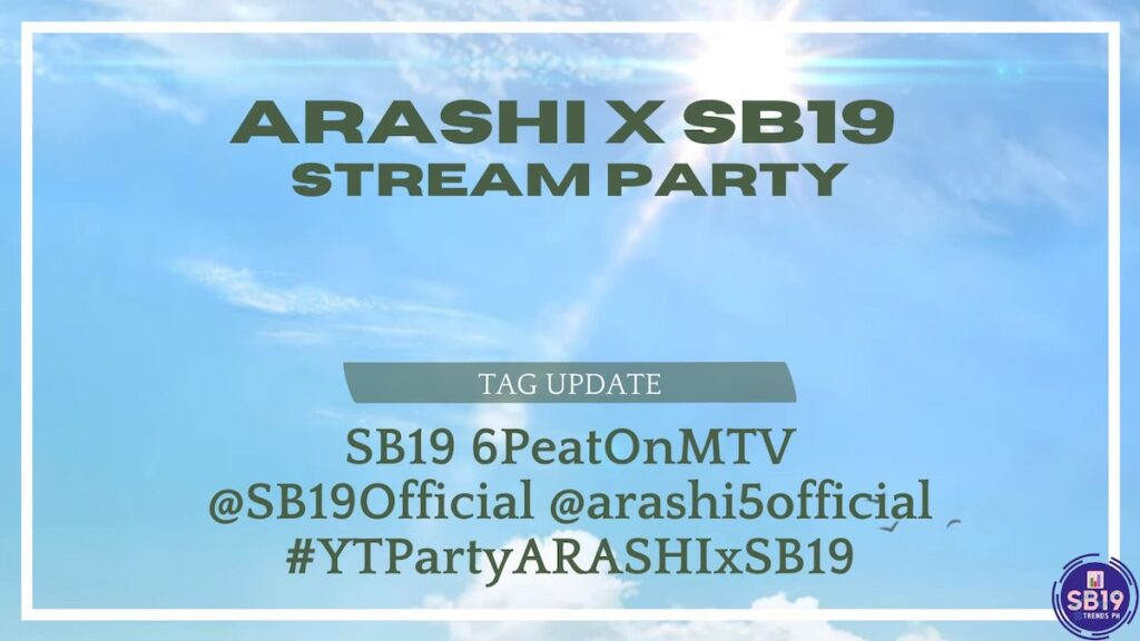 The fans of P-pop idol group SB19 and Japanese boy band ARASHI proved over the weekend that social media still has the power to inspire. Image credit: @SB19TrendsPH