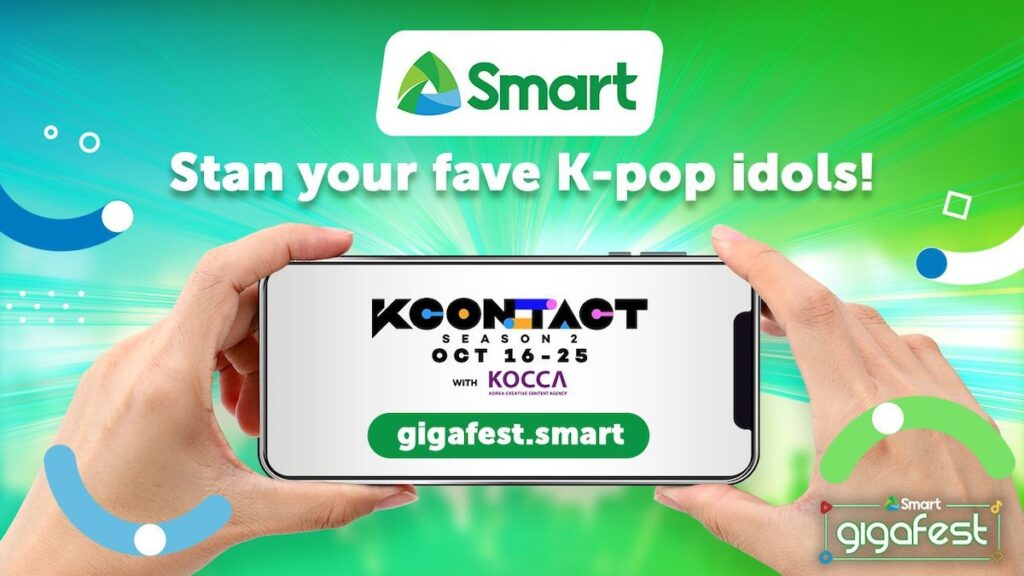 K-pop fans in the Philippines will be able to watch the KCON:TACT 2020 Season 2 virtual festival via Smart Communications's GigaFest.Smart.