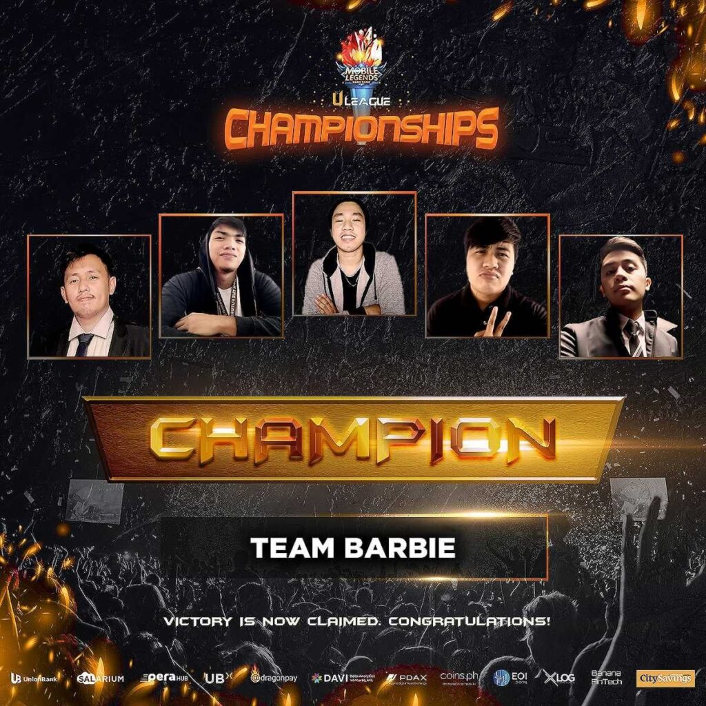 In the end, there can be only one. And that one turned out to be the Team Barbie esports team of Union Bank of the Philippines