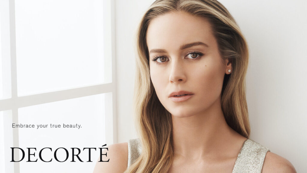 Brie Larson is the new global muse of Decorté, one of Japan's most beloved beauty brands. Image credit: Decorté