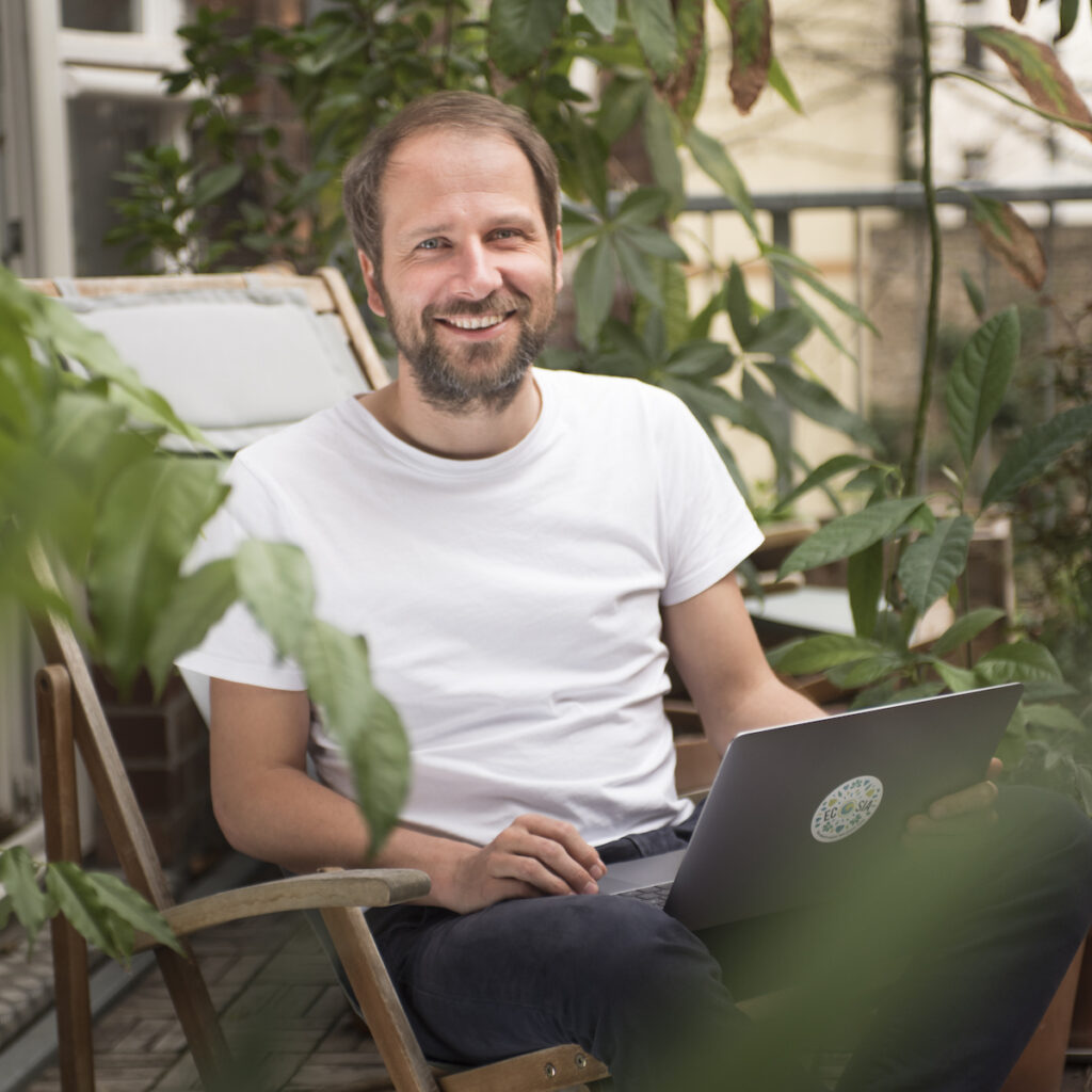 Ecosia Founder and CEO Christian Kroll believes in a better internet. Image credit: Ecosia