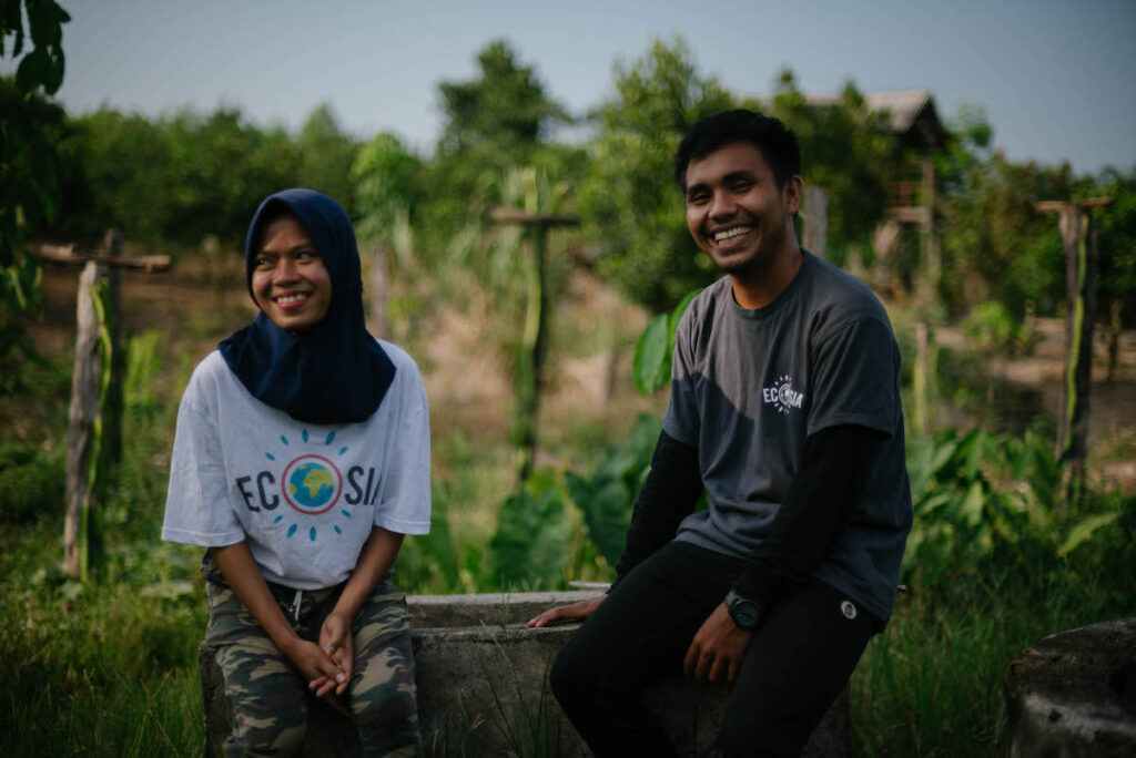 Tree-planting project in Indonesia. Image credit: Ecosia