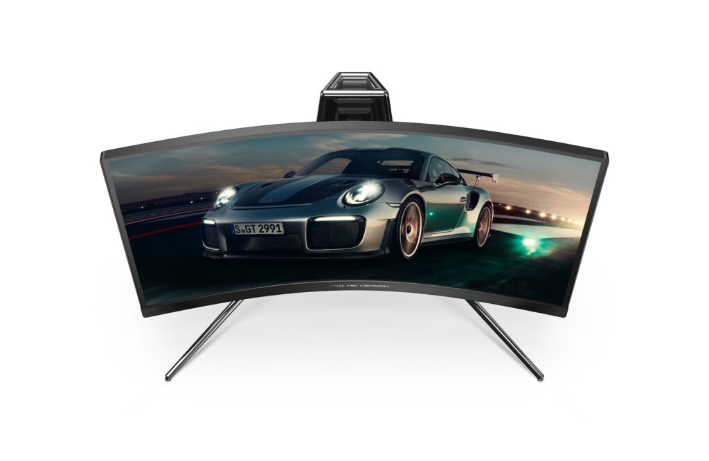 Porsche Design and AOC have promised an experience similar to driving a race car with the first ever Porsche Design AOC AGON gaming monitor. Image credit: Porsche Design and AOC