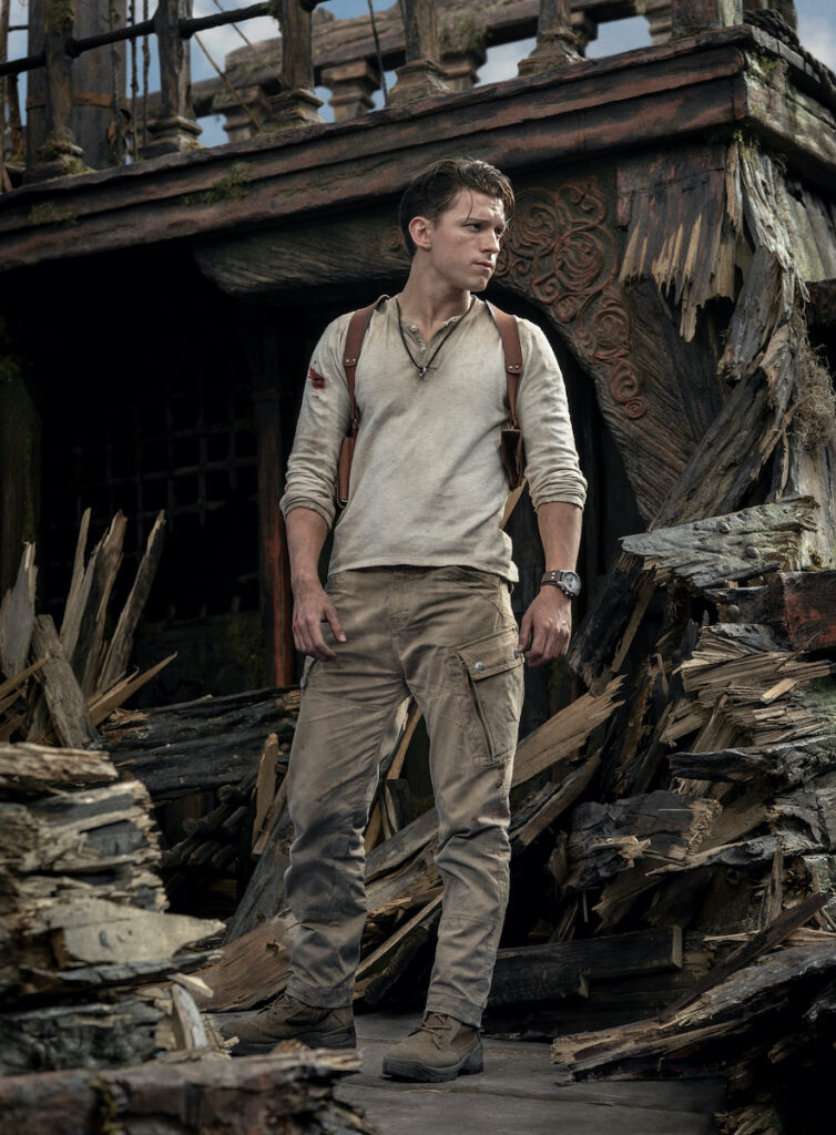 "Tom Holland as Nathan Drake in ""Uncharted"". Image credit: Columbia Pictures Philippines"