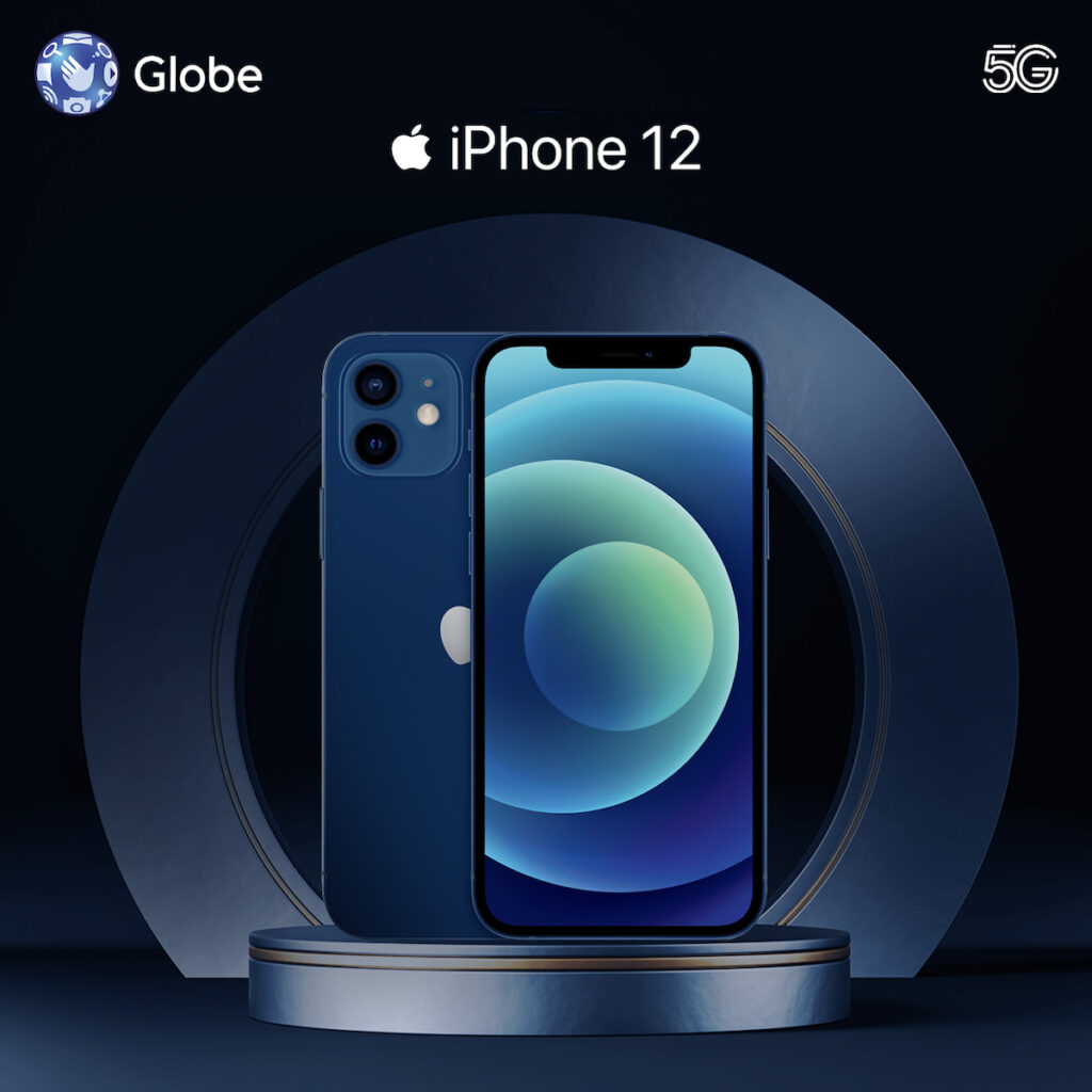 Get the iPhone 12 with Globe 5G and avail of Globe Telecom's special introductory pricing and your choice of payment options. Image credit: Globe Telecom