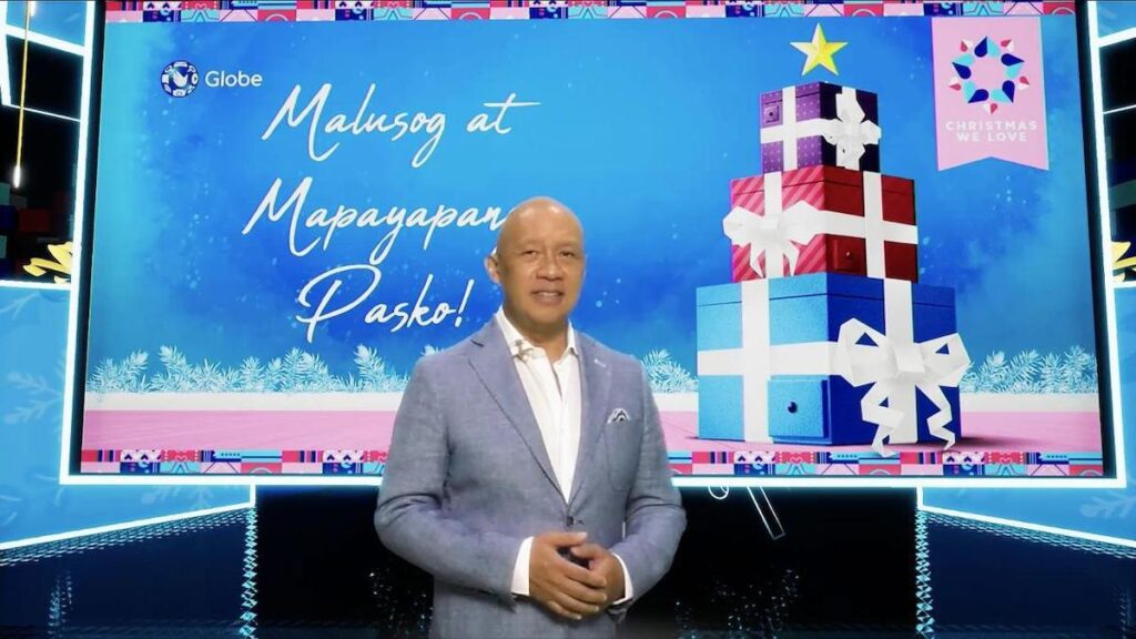 Globe President and CEO Ernest Cu stressed the Christmas is not canceled. Image credit: Globe Telecom