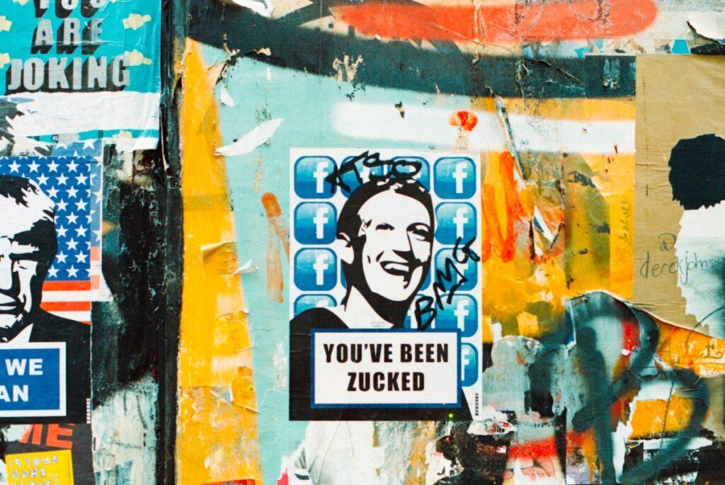 You've been zucked. London Street art. Image credit: Annie Spratt on Unsplash