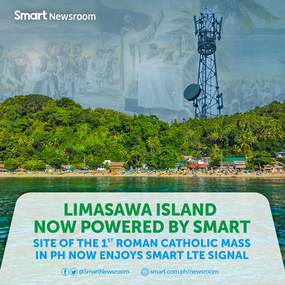 Limasawa, site of the country's first Catholic Mass, has entered the age of high-speed internet with the launch of Smart's LTE network there. Image credit: Smart Communications