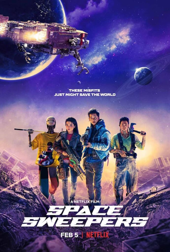 "Are you ready to get swept away by Netflix's upcoming outer space sci-fi blockbuster ""Space Sweepers"" starring Song Joong Ki and Kim Tae Ri? Image credit: Netflix"
