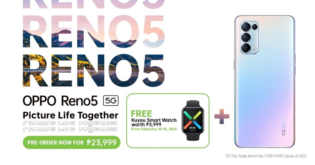 Not only can you already pre-order the OPPO Reno5 series in the Philippines until Feb. 19, but also OPPO has partnered with Tinder to give you the chance to score the perfect date beyond love month. Image credit: OPPO