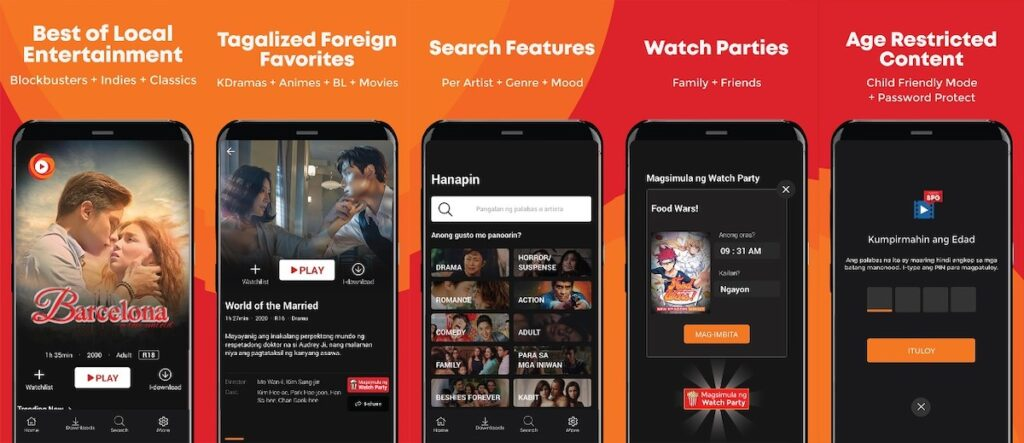 POPTV, a streaming platform that offers Philippine blockbusters as well as foreign shows dubbed in Filipino, is now within easier reach thanks to M Lhuillier. Image credit: POPTV