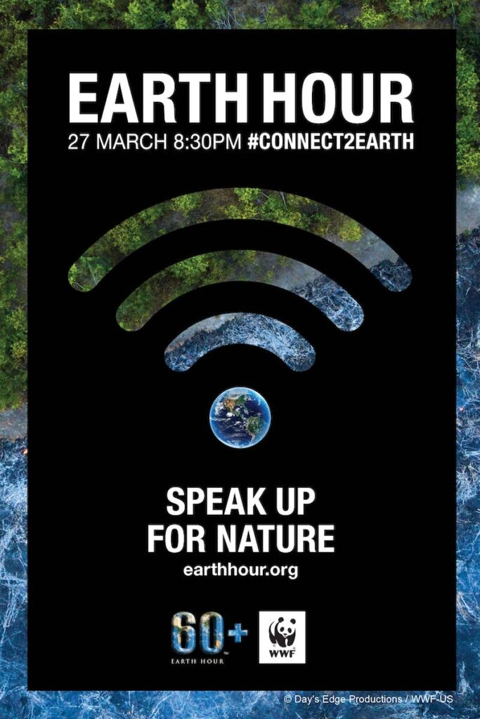 As the world's largest grassroots movement for the environment, Earth Hour brings together millions around the globe to clamor for a sustainable future at 8:30 PM on the last Saturday of March. Image credit: @Day's Edge Productions / WWF-US