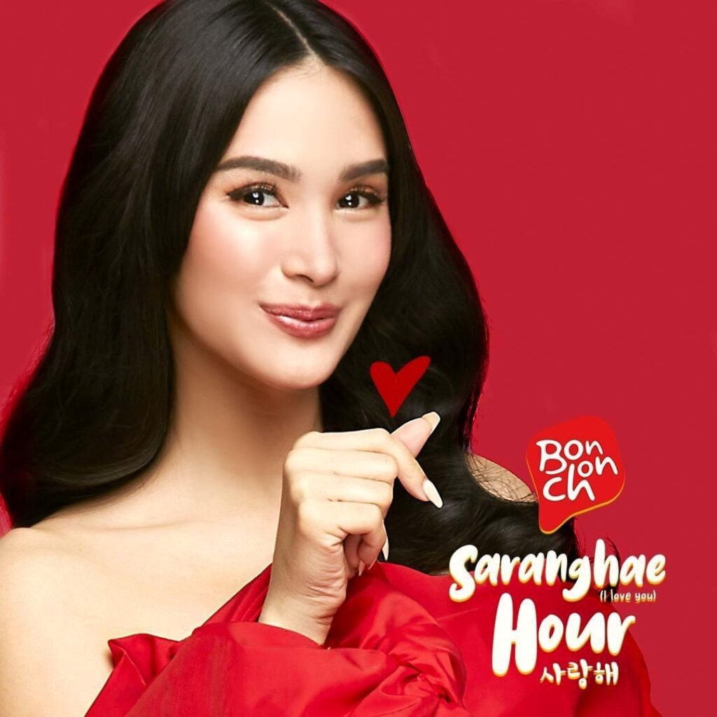 BonChon Chicken Philippines introduced Filipina actress Heart Evangelista as its new love ambassador in the Saranghae Hour Facebook Live event on Feb. 28. Image credit: BonChon